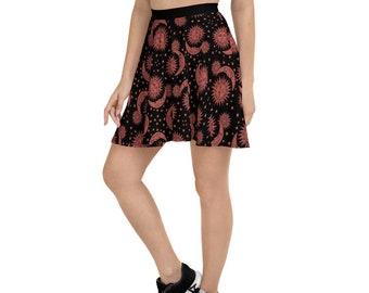 Celestial Pattern Skater Skirt