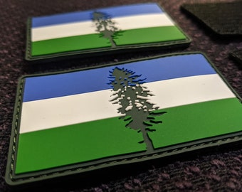 Cascadia Doug Flag PVC Patch - with Velcro Hook and Loop Backing