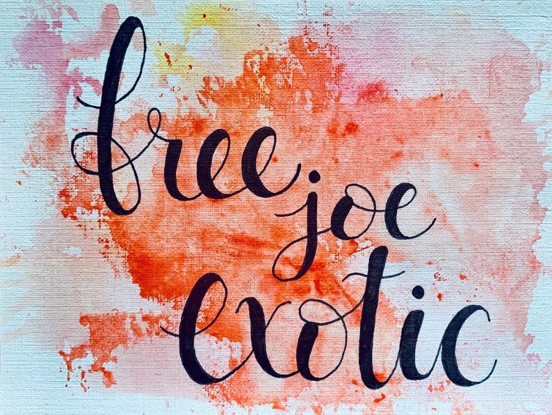 free joe exotic \u2022 watercolor print