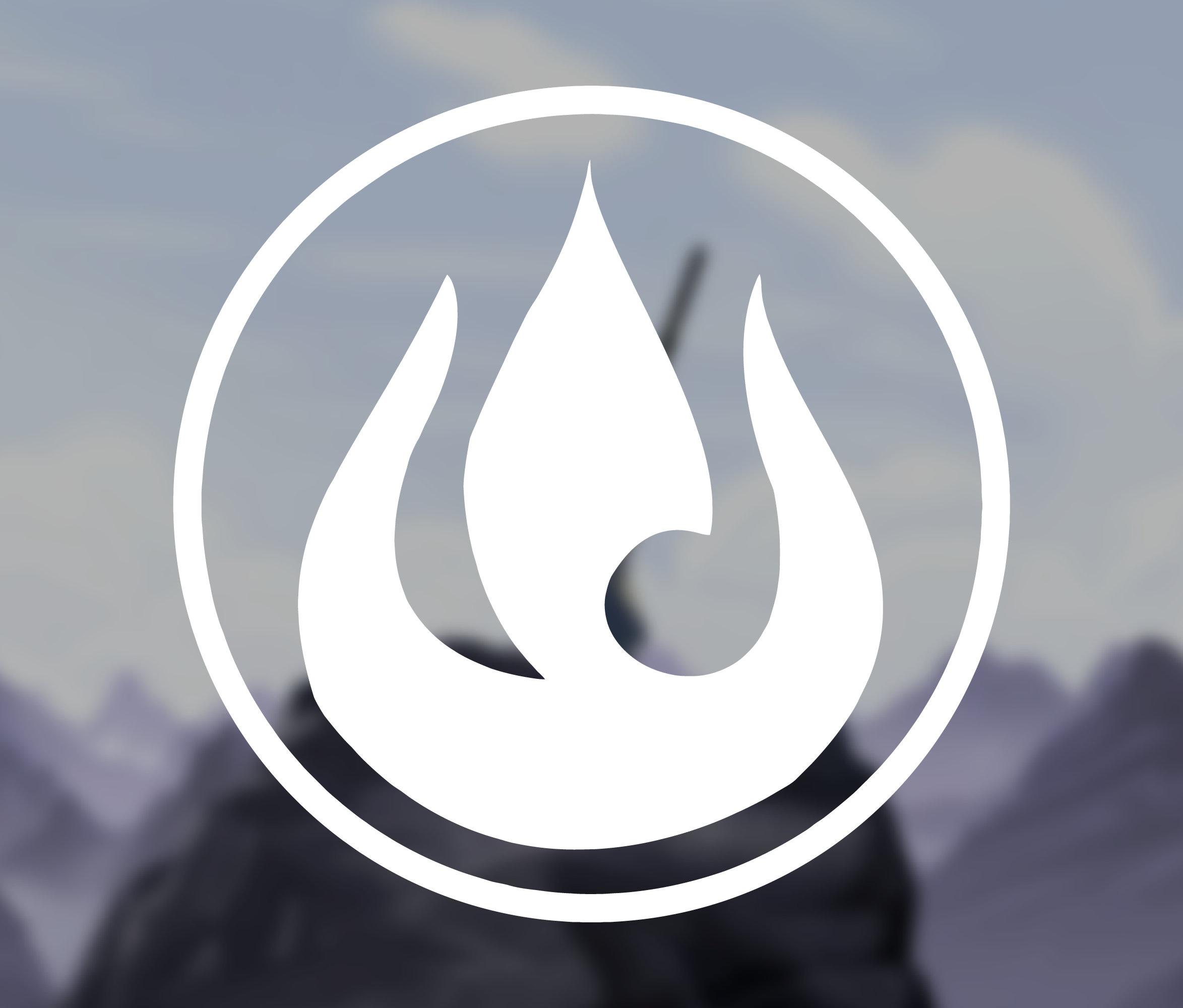 Avatar The Last Airbender   Fire Nation Symbol   Aufkleber   ATLA