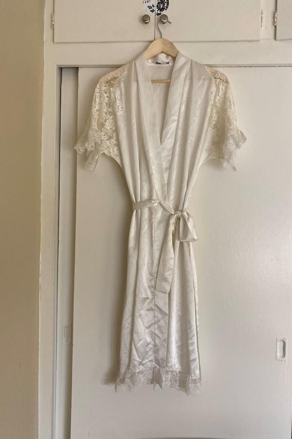 Vintage 1940s style Dior lingerie robe