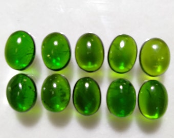 Natural Chrome Diopside gemstone Cabochon  AAA++ Quality  EMERAL Color  Oval shape size : 9x7  1piece 2.5 carat.