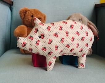 Hochet à grelot Petit Cochon Fraise