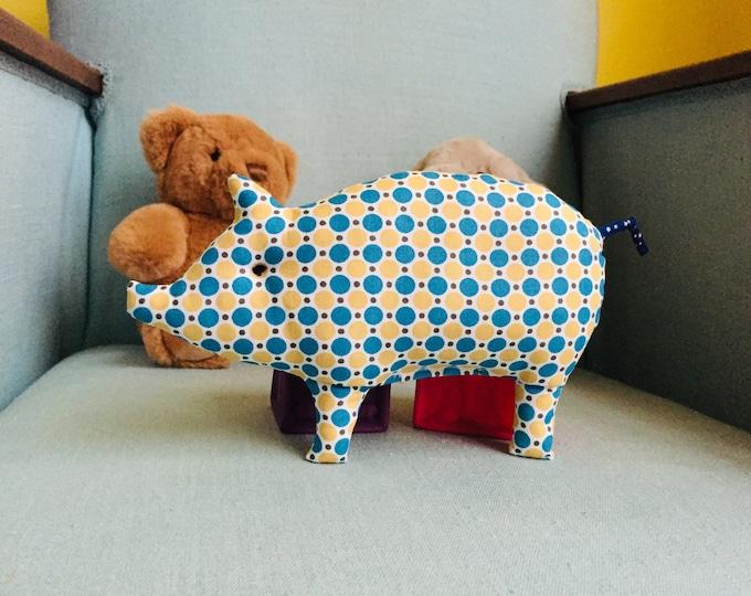 Hochet à grelot Petit Cochon Pastille