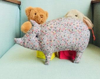 Hochet à grelot Petit Cochon nommé Fleurette