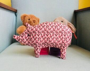 Hochet à grelot Petit Cochon Champêtre