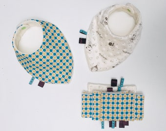 Boxes births duo bibs and matching wipes