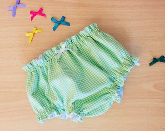 Baby bloomers in vichy fabric