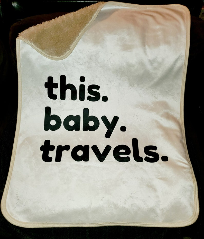 Baby Travel Sherpa Blankets Infant Sizes  Black image 0