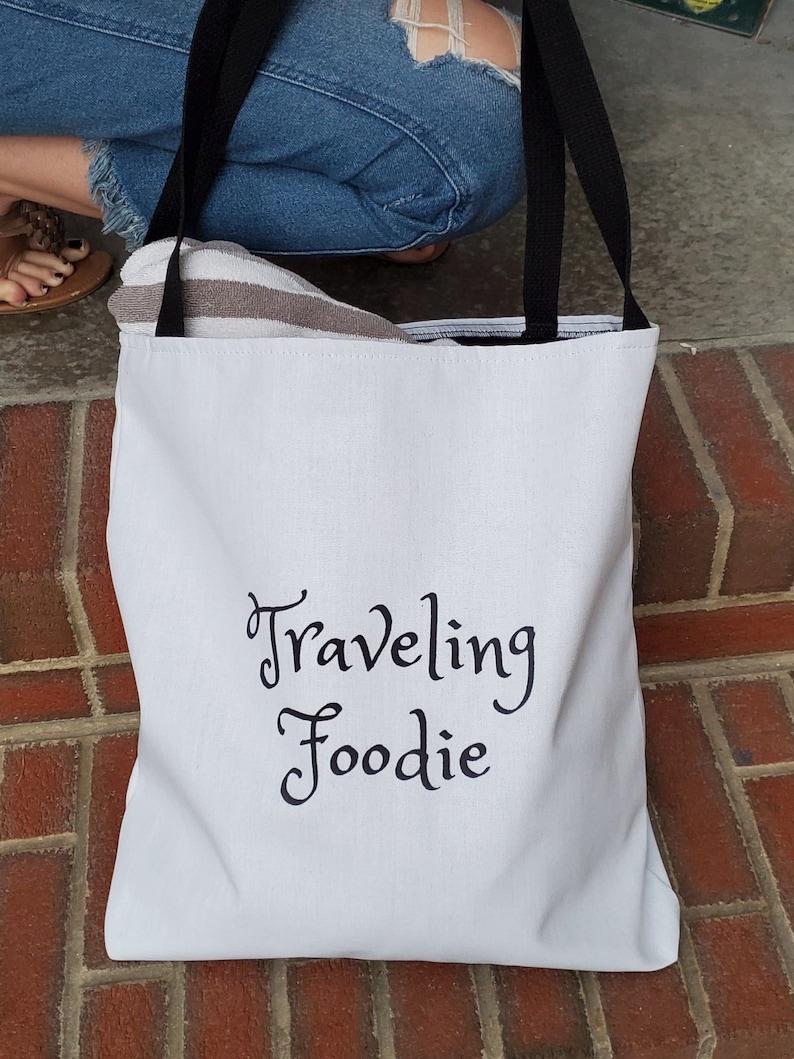Traveling Foodie Tote Bag image 0