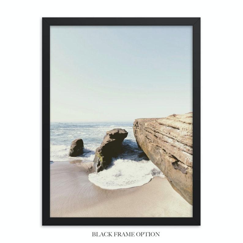 Set of 3 Beach Prints Beach Decor Ocean Wall Art Framed San Diego Art Printed in 8x10 12x16 12x18 16x20 18x24 in La Jolla California