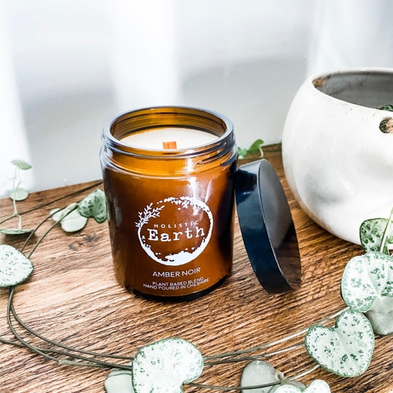 Apothecary Scented Candle | Wooden Wick Candle | Valentines Gift