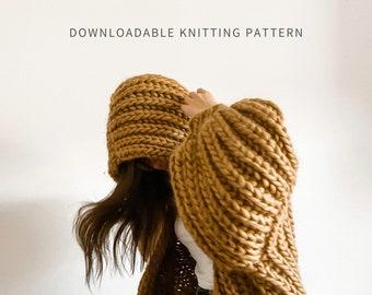 Marshmallow Cardigan | Digital Download | Chunky Hooded Knit Cardigan Pattern | Blanket Cardigan | Beginner Friendly | Seamless