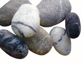 """Felted sea stones can be used as elements to create rugs or panels, stones ranging in size from 1.5 """"to 5"""", The price is for one stone 2.5 """""""