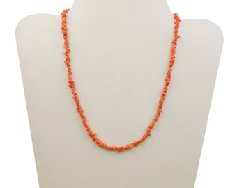 Coral natural Gemstone gold plated for women gift for her Orange Jewelry Orange Coral Jewelry Coral Necklace Coral Natural Gemstone