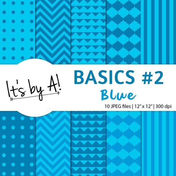 Papel Digital Azul Papel Decorativo Para Imprimir Papel Etsy