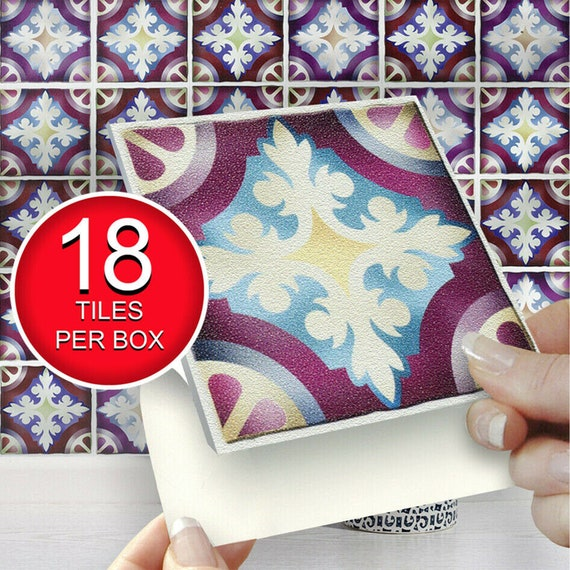 "Self Adhesive Wall TileEasy Fit Peel /& Stick Pk of 18 Black 4/""x4/"" Tiles"
