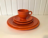 Fiestaware, Radioactive Red, 5 place Setting
