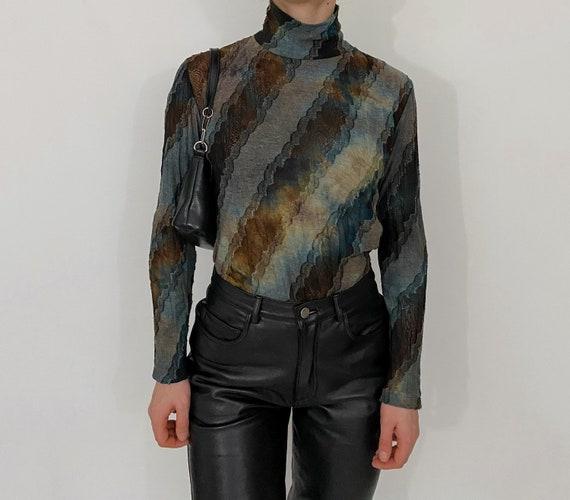 vintage tie dye turtleneck top