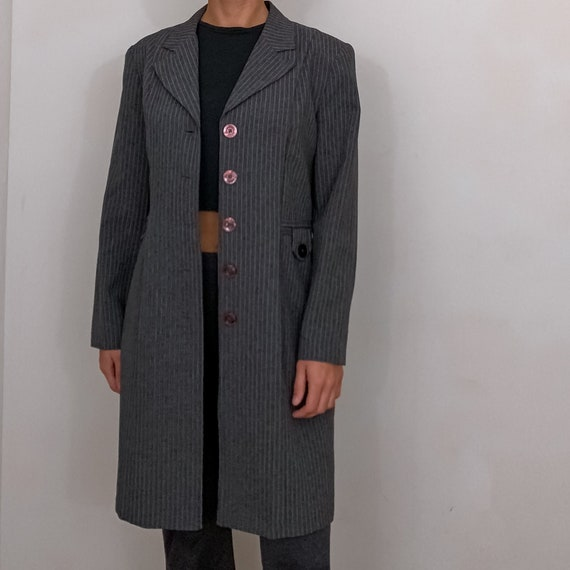 vintage long striped coat