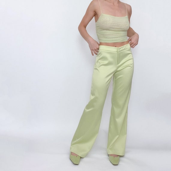 lime green trouser pants