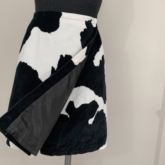 vintage cow print wrap skirt