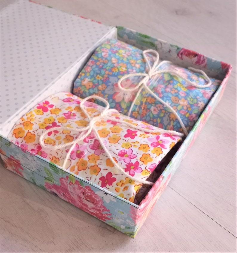 Gift for Quilter Cotton Fabric Bundle Gift Box