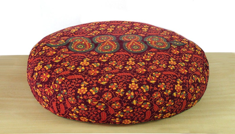 New 42 Indian Handmade Round Multi Floral Mandala Cushion Cover Floor Decorative Covers Maditation Cushion Cover