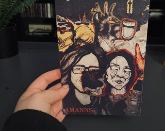 Dark art mini prints/original prints/grunge art/home decor/grunge wall art/art prints/cheap art/original art/gothic decor