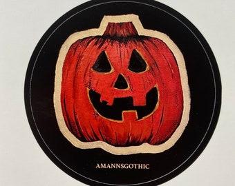 Halloween sticker/pumpkin/pumpkin sticker/fall/spooky season/Halloween/autumn stickers/gothic/gothic decor/jack o lantern/fall stickers