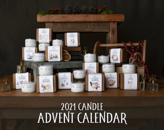 2021 Candle Advent Calendar | Christmas Candles | Advent Calendar for Adults