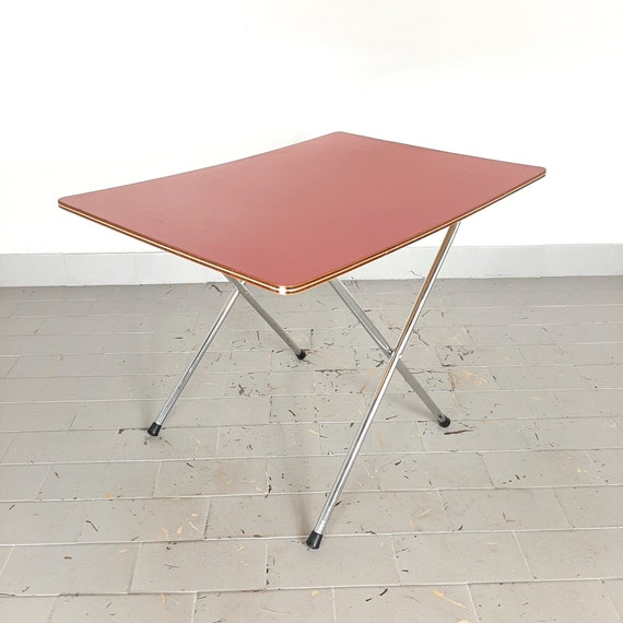 Mid Century Folding Table Italy 60s Camping - How To Make A Small Folding Table