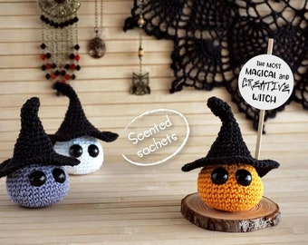 Halloween three witches set, Aromatic sachets customizable message, Gift for woman, Halloween Decoration