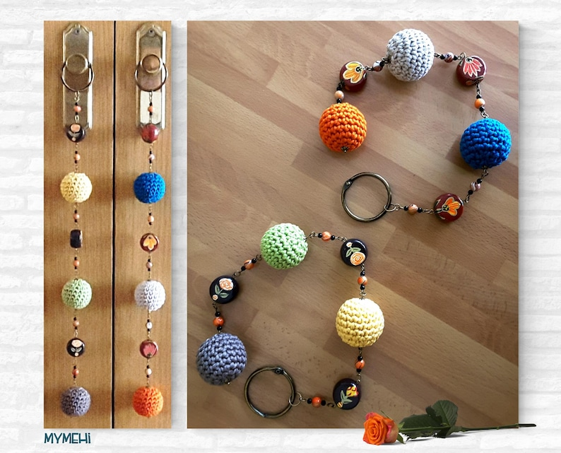 Ball ornaments for doors multicoloured hangers for image 0