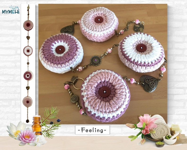 Romantic ornament with mandalas and hearts marsala and white image 0