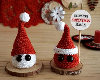 Santa Claus and snowman scented sachets, Christmas ornament Merry Christmas, Christmas gift customizable messages.