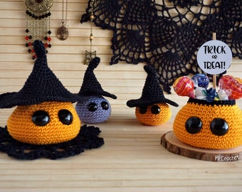 Halloween little candy basket, Halloween baskets and witches set, Halloween gift with customizable message, Halloween decorations