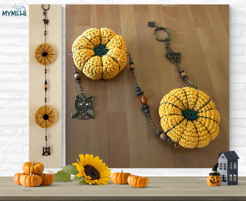 Mobile ornament for Halloween hanging pumpkin for Halloween image 0