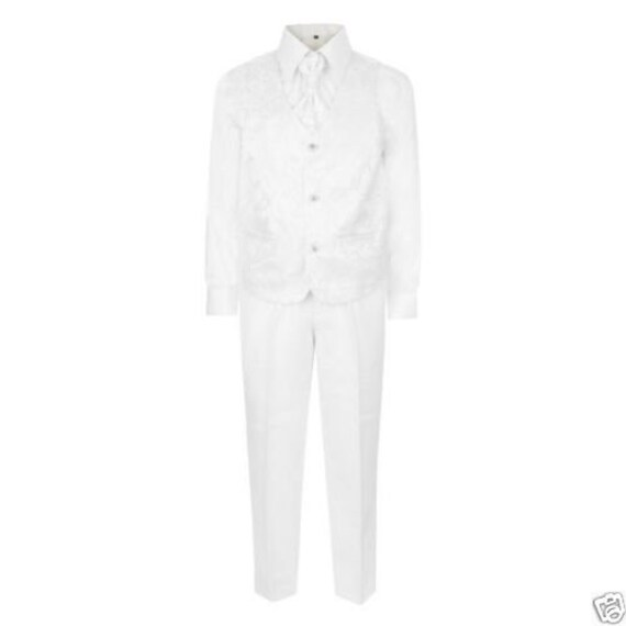 BOYS FIVE PIECES WEDDING PARTY PROM RED//WINE SUIT 1-15 YEARS