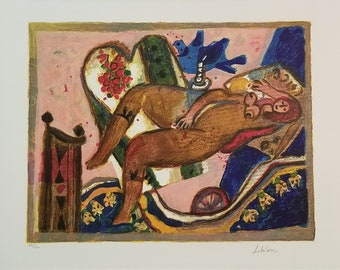 Iconic Tobiasse Judaica Cantique des Cantiques- Great Image The Tobiasse limited edition of 150 original lithograph Vivid!