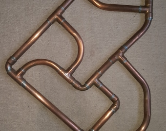 Hand Made Copper Pipe Heart