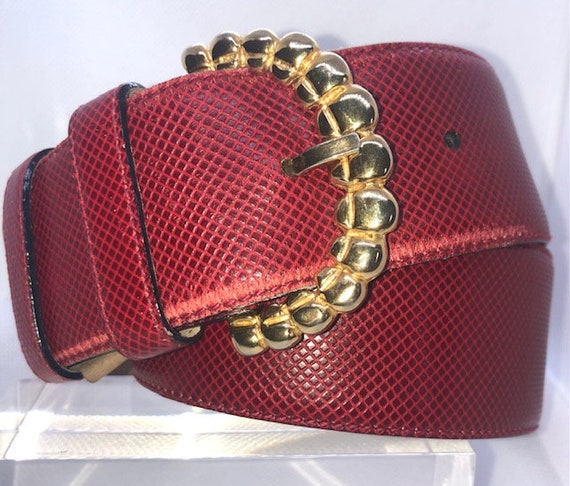 Vintage Bottegaventa Red Leather Belt