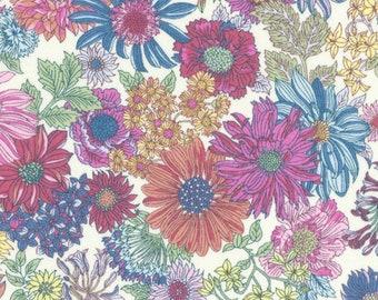 Japanese Fabric - Lecien - Memoire A Paris - floral fabric - cotton lawn fabric - 40738 - pink