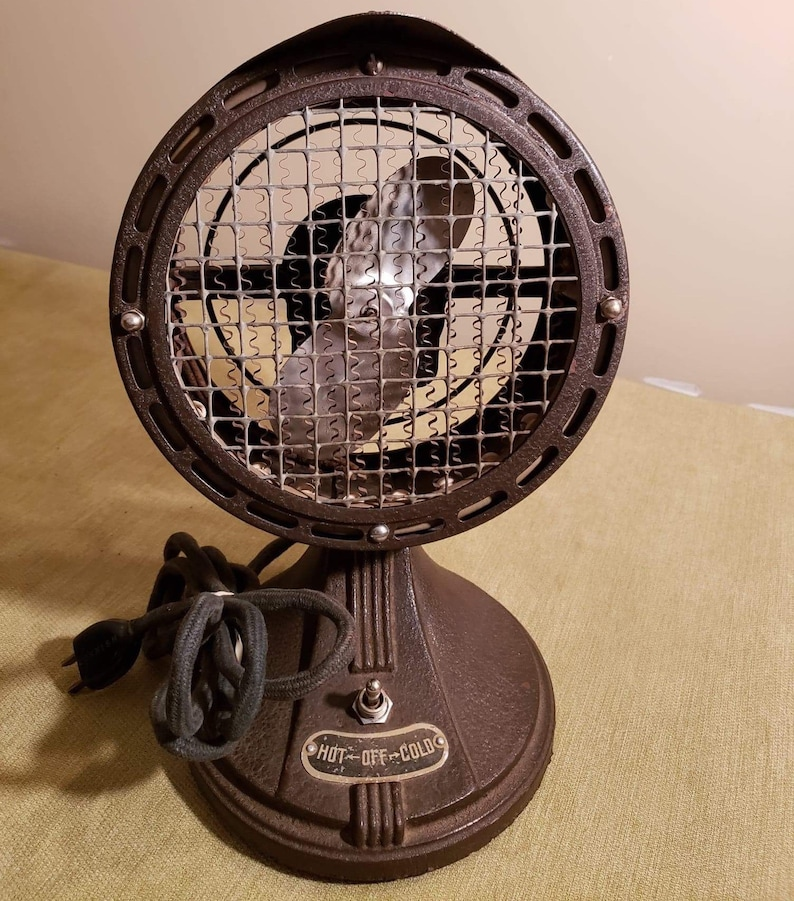 Antique 1940\u2019s Comfy-Aire HotCold FanHeater Losee Products Hebron IL