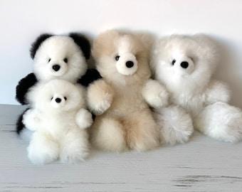Teddy Bear Made with Alpaca Fur, Handmade Peruvian Teddy |