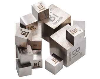 Bismuth Metal Element Cube 99.95% Science Periodic Table