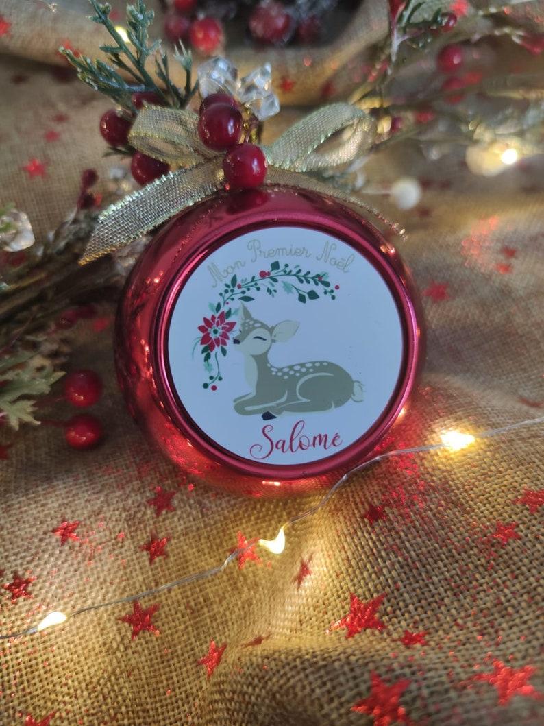 Boule de Noël personnalisée - Créatrice ETSY : Lescreationsdelyllou