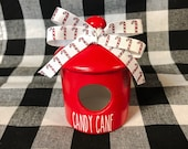 Candy Cane Mini Birdhouse