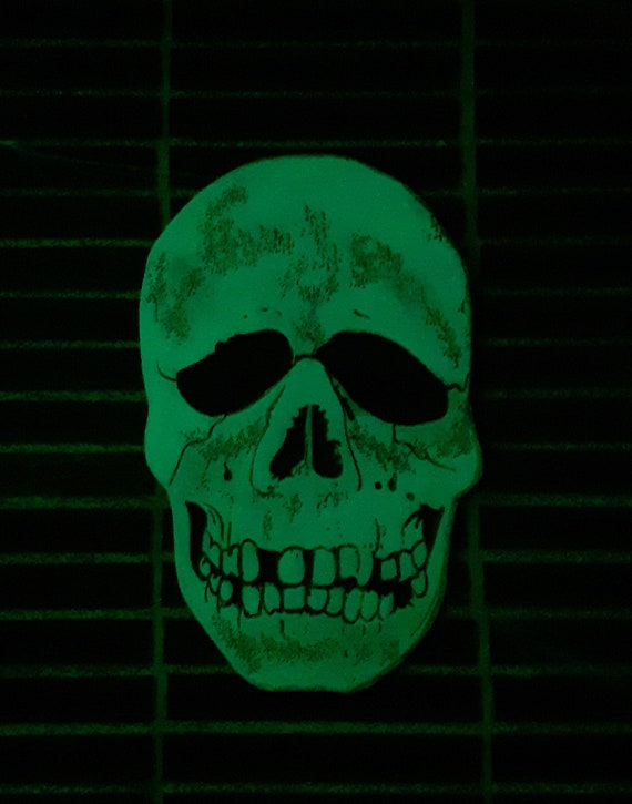 Glow In The Dark Skull Plaque Halloween