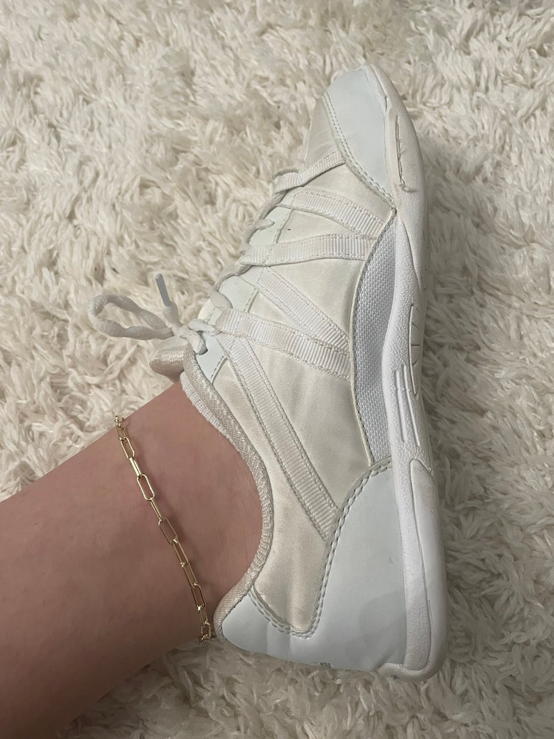 gold paperclip chain anklet